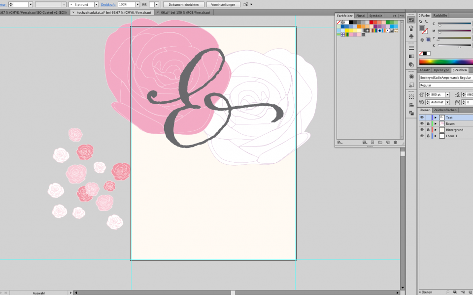 Hochzeitsplakat im Adobe Photoshop gestalten