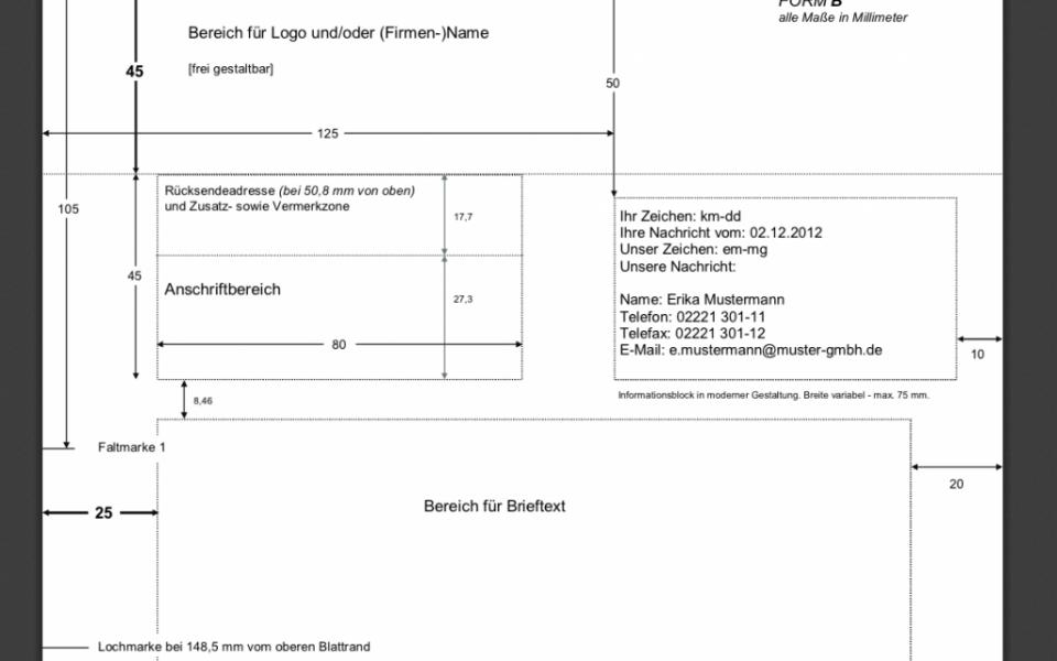Din 5008 Richtlinien De Privater Briefbogen Merkblatt Din 5008