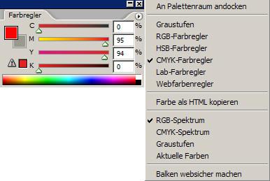 Farbunterschiede Screen und Print - RGB und CMYK im Photoshop
