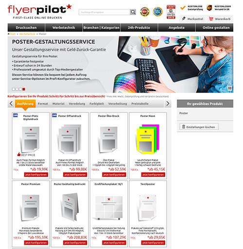 Plakate im Online-Shop auswählen und konfigurieren