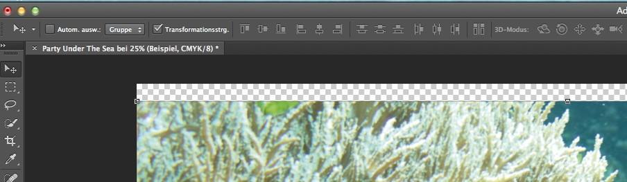 Ein Plakat für eine Party gestalten: Party under the Sea - Bildausschnitt skalieren im Photoshop