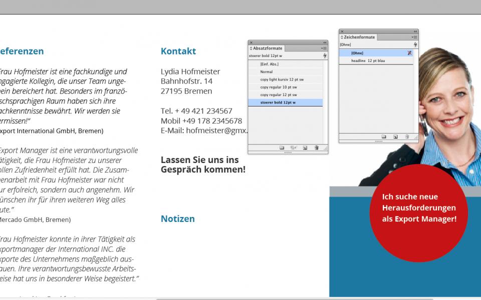 Format-Erstellung im InDesign
