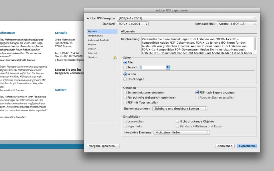 PDF im InDesign erstellen