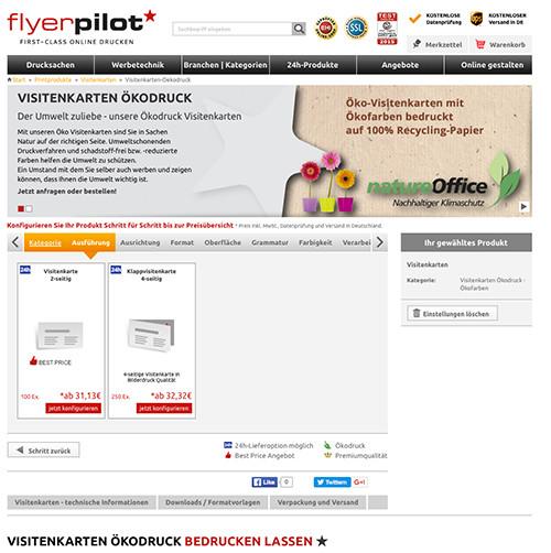 Terminkarte im Retrolook gestalten - Visitenkarten im Online-Shop konfigurieren