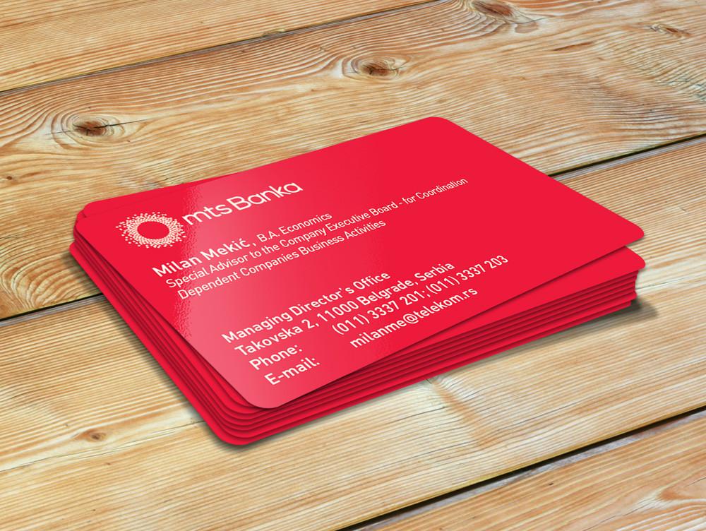 40 ausgefallene Visitenkarten - dei rote Visitenkarte