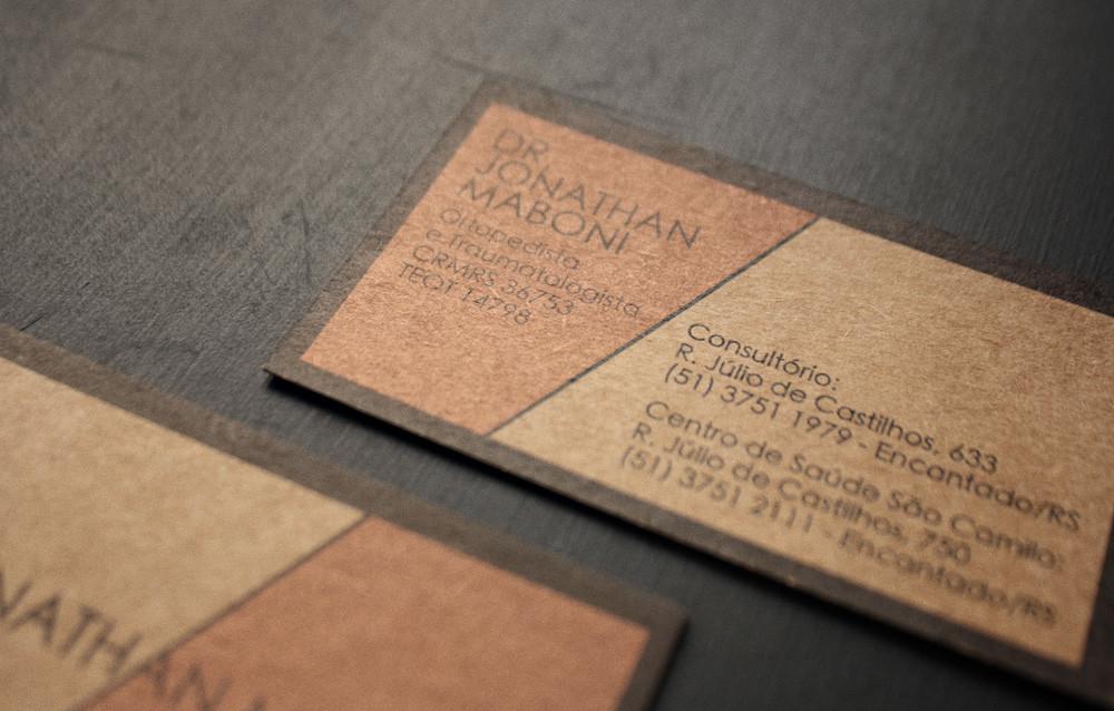 40 ausgefallene Visitenkarten - papier in Lederoptik