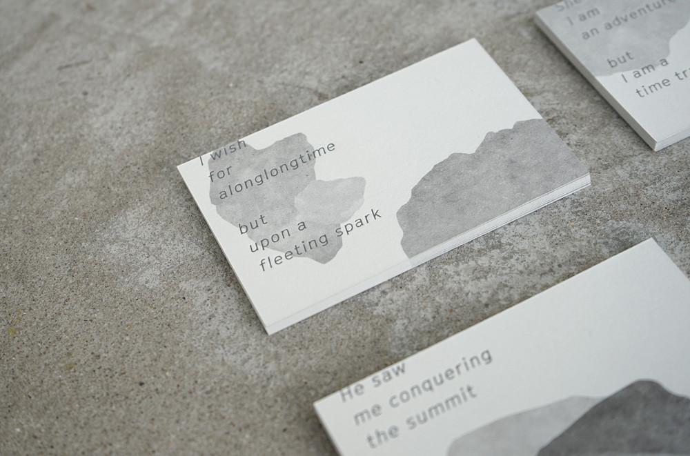 40 ausgefallene Visitenkarten - Visitenkarten Steinoptik
