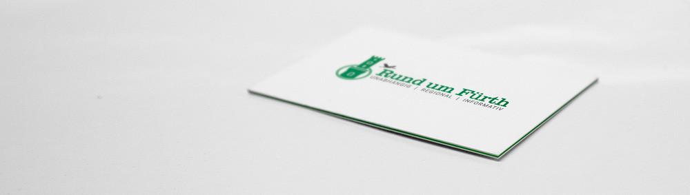 40 ausgefallene Visitenkarten - Grüner Farbkern