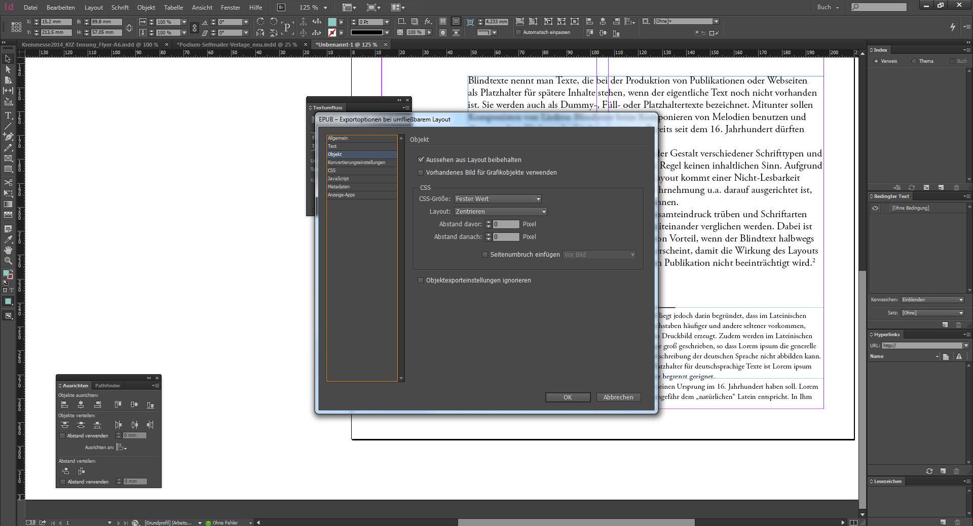 Neuerungen InDesign CC 2014 - Texte umfließen im InDesign