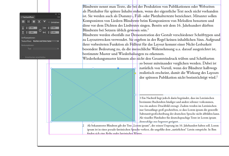 Neuerungen InDesign CC 2014 - Automatischer Abstand bei grafischen Elementen