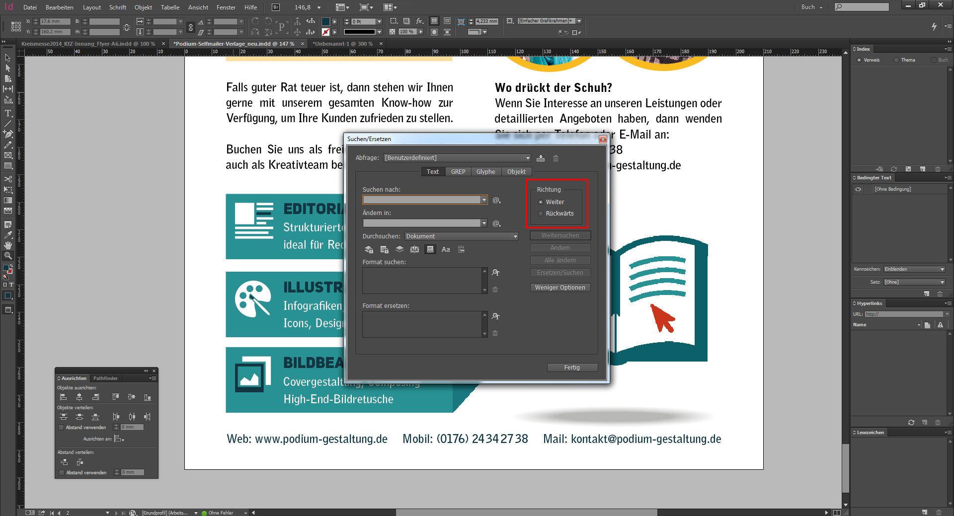 Neuerungen InDesign CC 2014 - Suchen und Ersetzen-Palette im InDesign