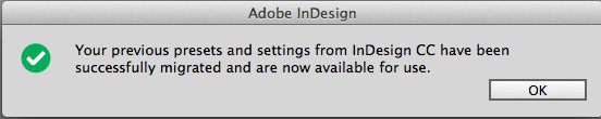 Neuerungen InDesign CC 2014 - Statusmeldung in InDesign CC 2014