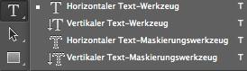 Broschüren mit Photoshop gestalten - Text-Ausrichtungen im Programm Photoshop