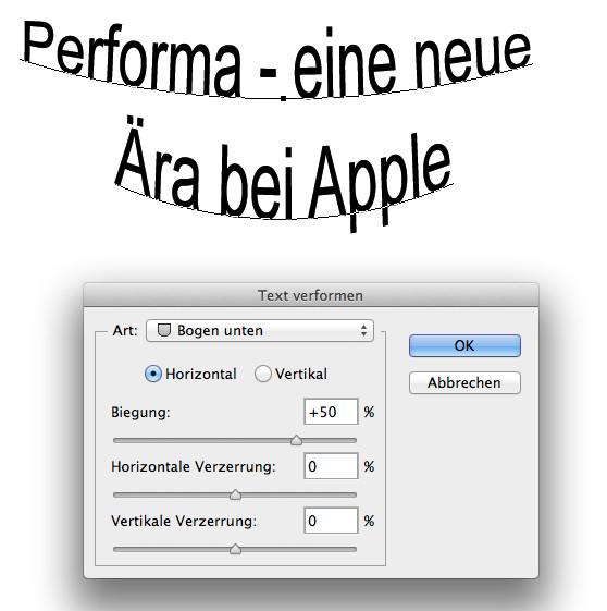 Broschüren mit Photoshop gestalten - Apple Performa - eine neu Ära
