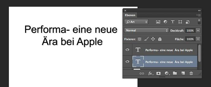 Photoshop: Textebenen einrichten