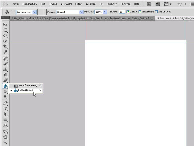 Flyer mit Photoshop erstellen - Flyer erstellen
