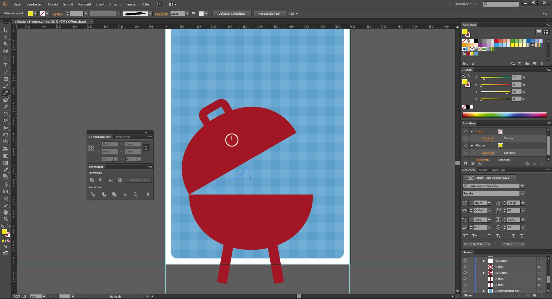 Grafische Elemente für ein Plakat im Illustrator erstellen