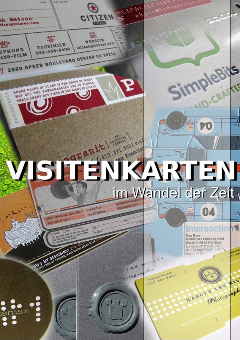 Visitenkarten Drucken Im Wandel Der Zeit