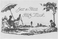 Visitenkarten drucken im Wandel der Zeit - Visitenkarte von Herrn Molke