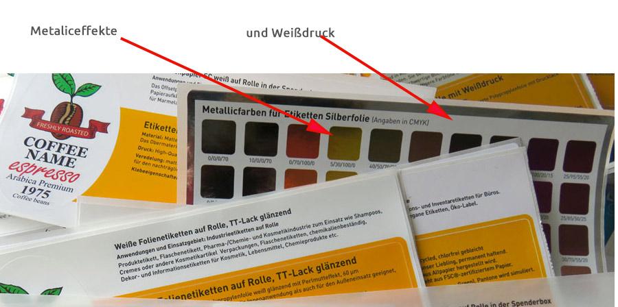 Weißdruck richtig anlegen - Weißdruck und Metaliceffekte