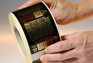 Etiketten auf Rolle ohne Spenderbox