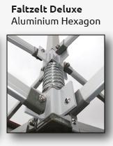 Faltzelt-Hexagon aus Aluminium
