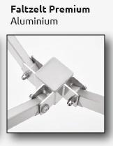 Faltzelt-Pavillon Premium aus Aluminium