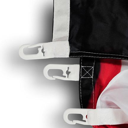 Befestigimhsmaterial für Fahnen und Flaggen