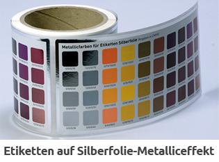 Silberfolien-Etikett auf Rolle